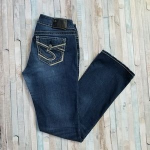 Silver Suki Mid Slim Bootcut Jeans